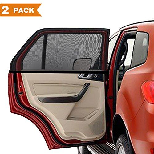 Sonnenschutz Auto Baby 2 Stück, PEMOTech® Flexibel DehnbaresNetz  Auto Hinterseitenfenster Sonnenblenden Für Baby, Ihre Baby Und ältere  Kinder ...